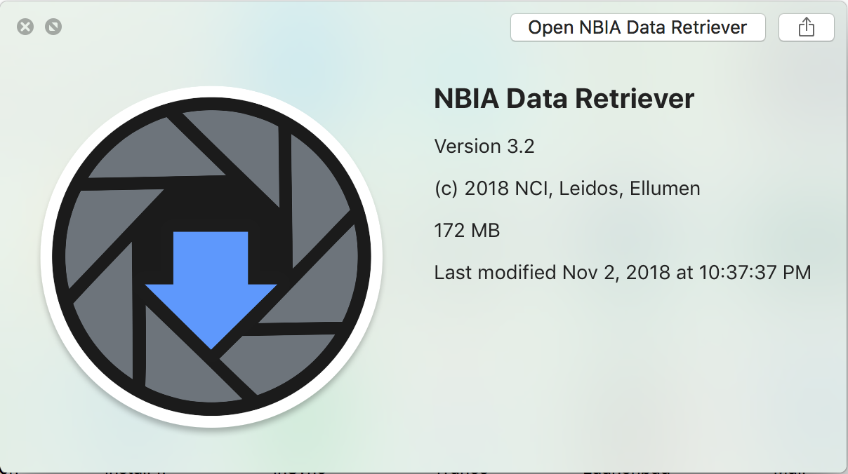NBIA Data Retriever on Mac